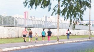 Entorno do Campo do Bom Pastor é local de caminhadas