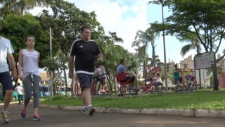 Praça circular marca o Roosevelt como opção de lazer e exercícios