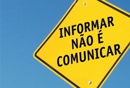 Comunicar é diferente de informar