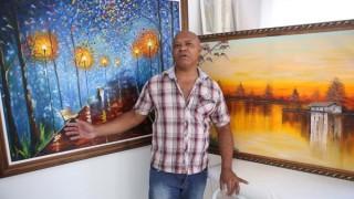 Em Uberlândia, vigilante se tornou pintor por 'acaso de Deus'
